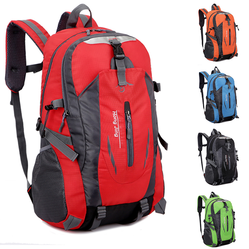 Outdoor mountaineering bag 40L large capacity light travel backpack mens and womens backpack waterproof riding bag schoolbag