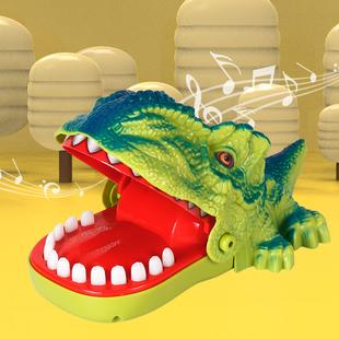 儿童玩具网红咬手鳄鱼按牙齿咬手指鲨鱼恐龙咬人减压神器抖音同款