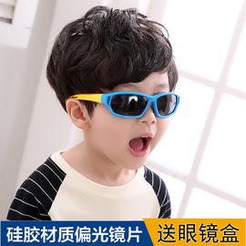儿童太阳眼镜女 男童太阳镜小孩运动软硅胶太阳眼镜宝宝偏光墨镜图片