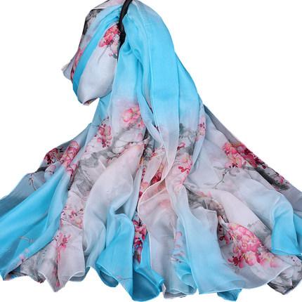 超大雪纺女士百搭防晒沙滩长款丝巾