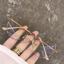 超轻钛近视眼镜女小红书有度数多边形配眼镜框网红素颜圆脸男韩版