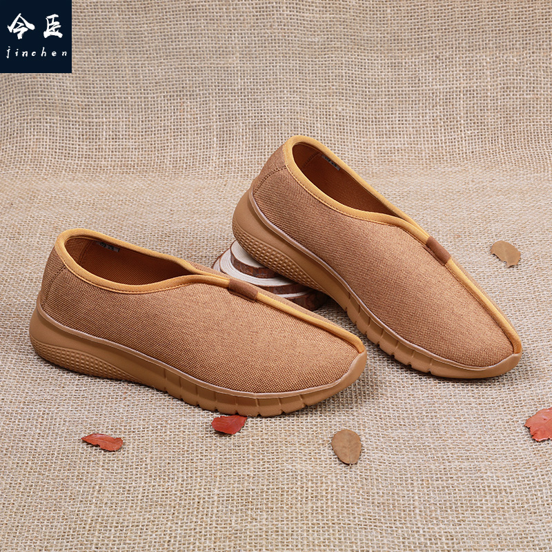 Chinese shoe mender monk shoes Chinese Style Mens shoes linen shoes casual shoes monk shoes spring and summer monk shoes tourist shoes Zen