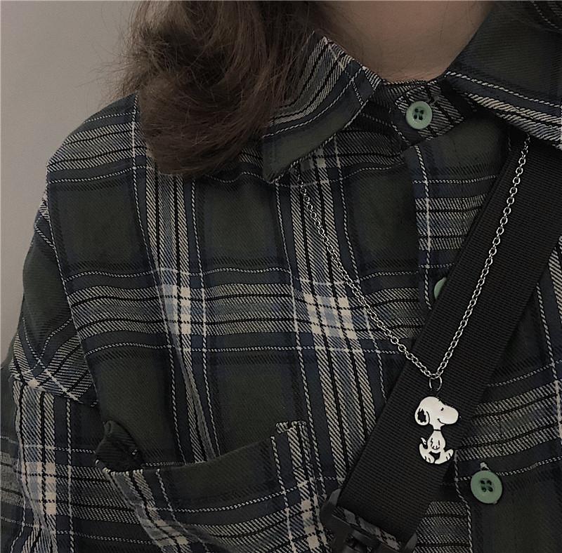 史努比项链迪士尼原创手工自制ins卡通吊坠潮牌挂件情侣百搭