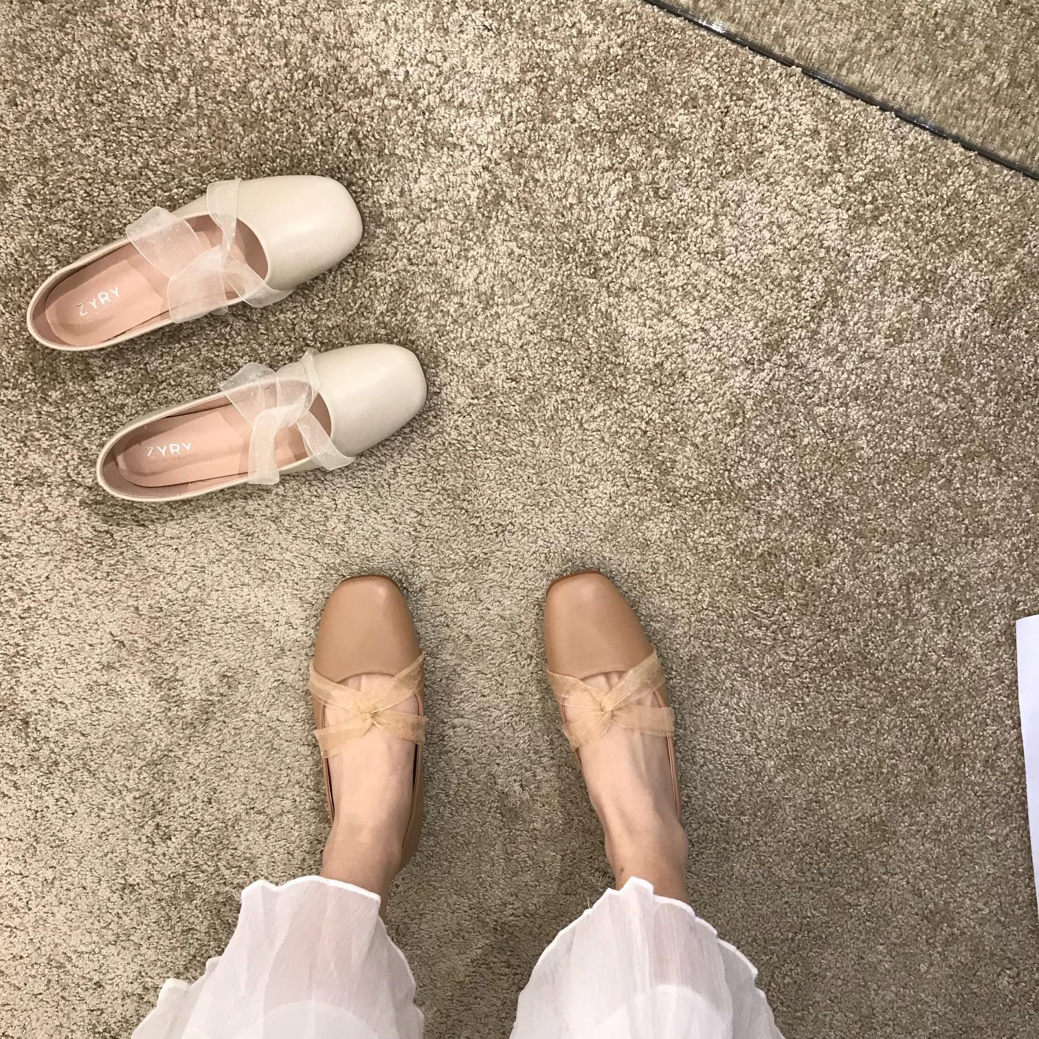 Late evening breeze gentle fairy shoes 2021 new single shoes spring and autumn shoes ballet spring beans flat shoes