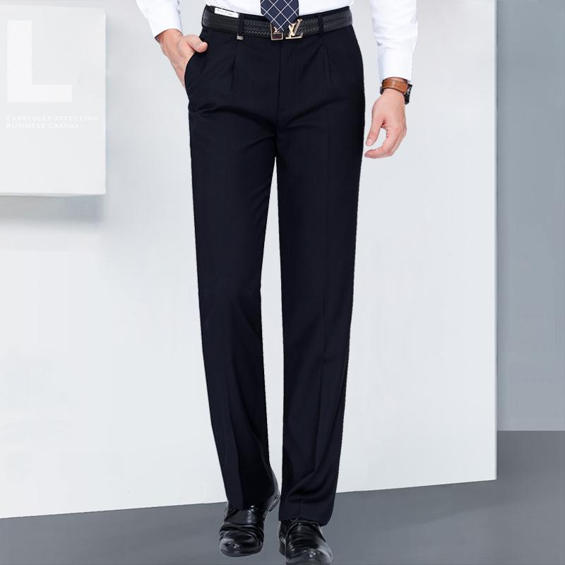 雅戈尔西裤秋冬厚款中年男士商务休闲直筒免烫正装宽松西装裤子