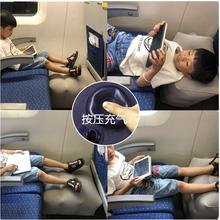 长途旅行飞机脚垫便捷充气儿童u型枕头汽车垫脚足踏宝宝睡觉神器