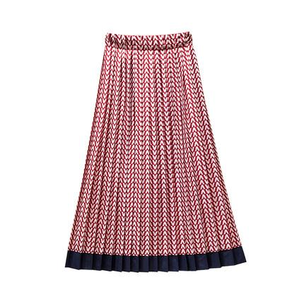 韩版绸缎适合胯大腿粗的褶皱半身裙