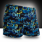 Patterned Fitness Swim Shorts