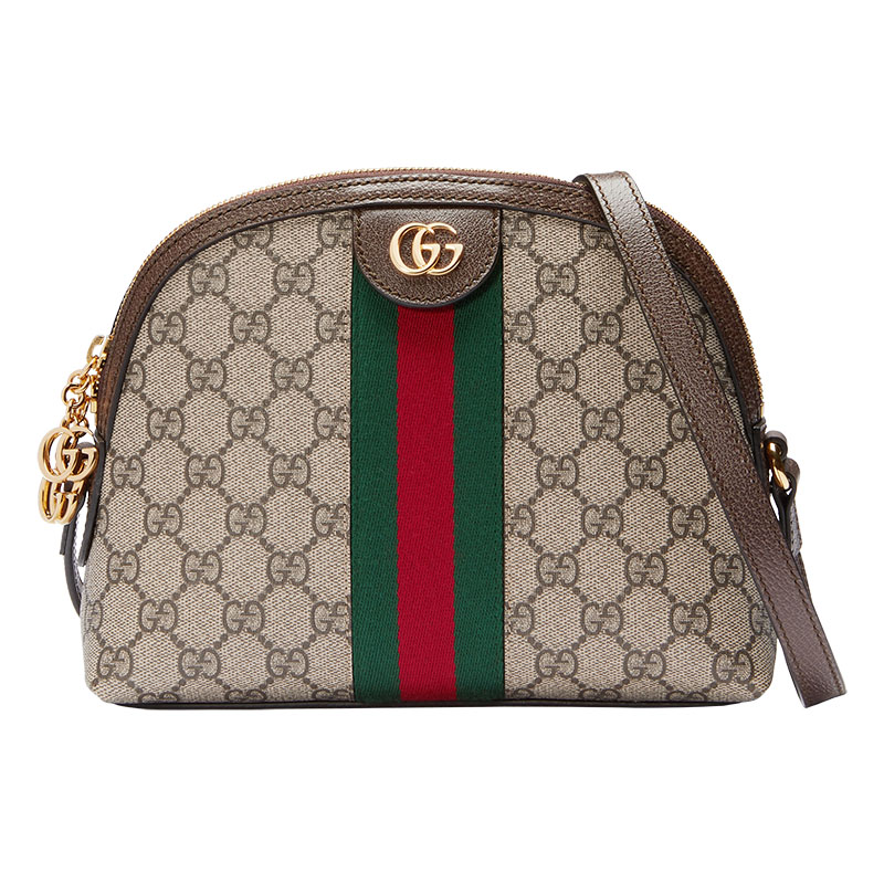 古奇Gucci古驰女包 女士Ophidia条纹贝壳包单肩包斜挎包499621图片