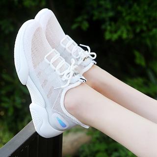 大乔丹丹小白鞋女鞋跑步鞋夏季新款运动鞋女学生透气网面休闲鞋轻