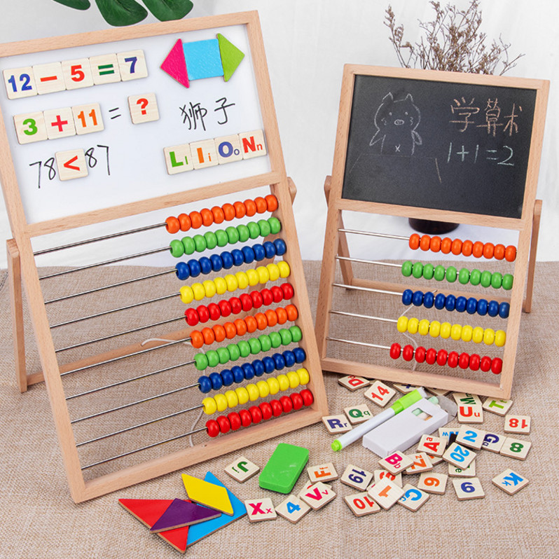 Childrens counter mathematics teaching aids beads calculation frame primary school grade one kindergarten within 10 addition and subtraction method