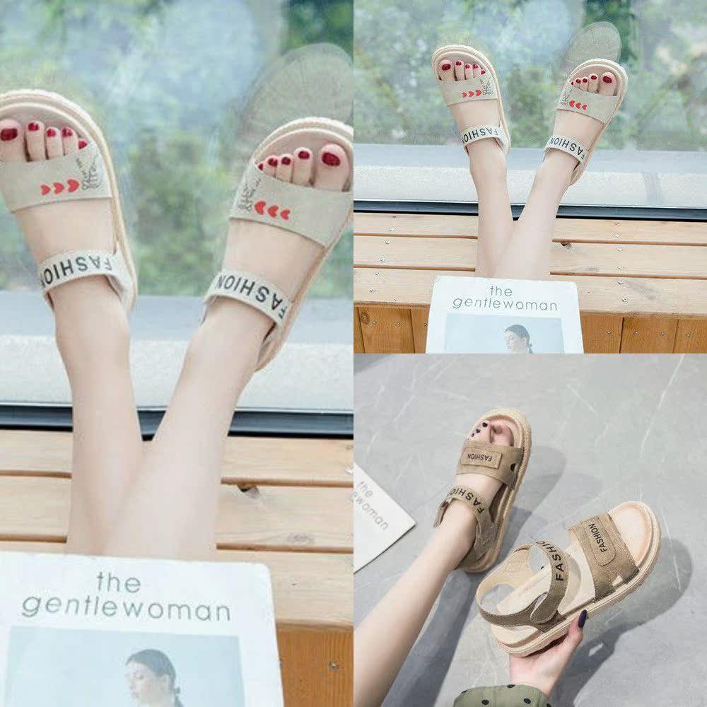 凉鞋女夏2020新款鞋女平底拖鞋鞋子学生春夏女式简单潮流女生