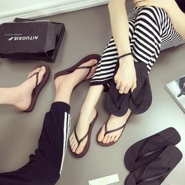 人字拖男夏季情侣防滑沙滩鞋外穿潮男个性休闲凉鞋夹脚室外凉拖鞋图片