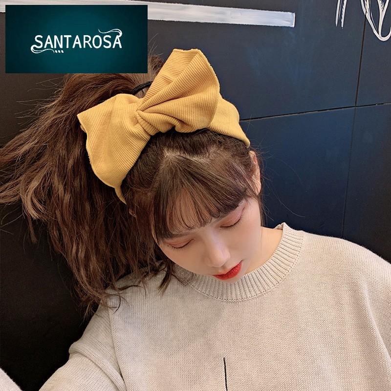 韩国甜美可爱束发带洗脸蝴蝶结发箍简约压发头箍头饰发带