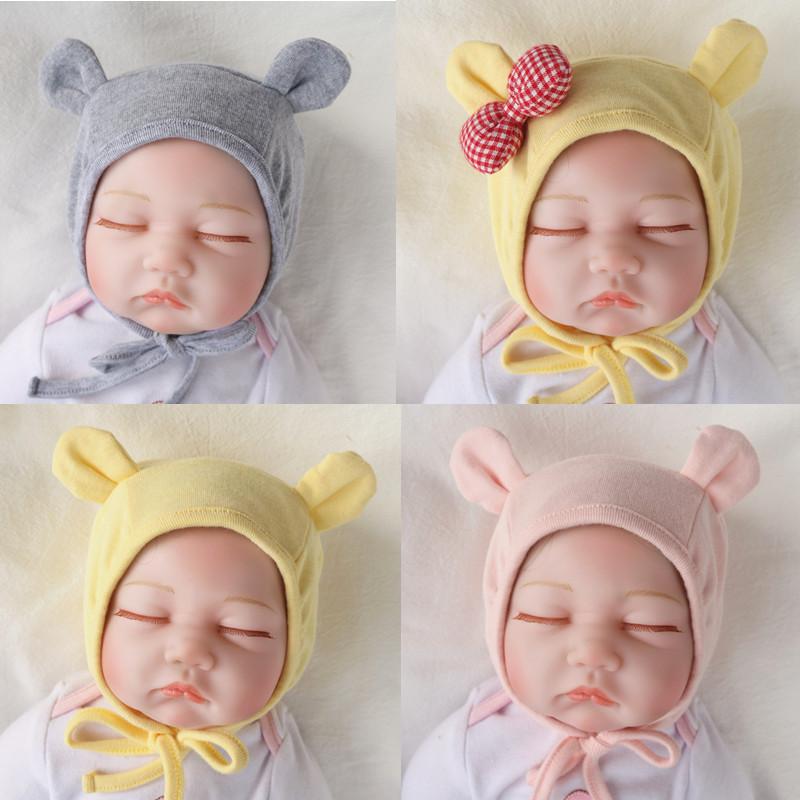 秋冬双层纯棉韩版女宝宝3-婴儿帽子热销3182件五折促销
