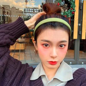超显白发箍女韩国新款茶色细边头箍个性洗脸百搭外出减龄简约发卡图片
