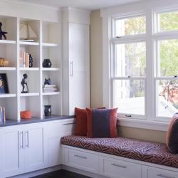 办公家具板式飘窗柜书柜 露水河E0级 爱格板多层板西安实木定制