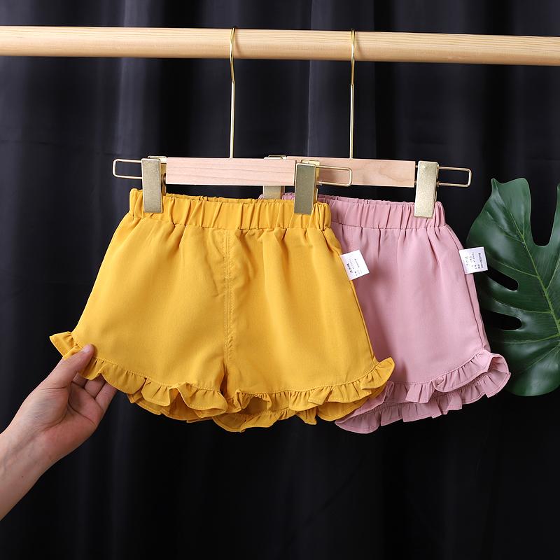 女童短裤子薄款夏装新款宝宝外穿花边中小童百搭女宝宝休闲裤2020