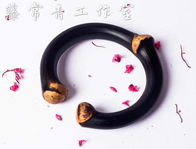 Yunnan heiteng, Jingangteng, male and female couples Tibet jisangteng natural wild wooden bracelet gift handicraft
