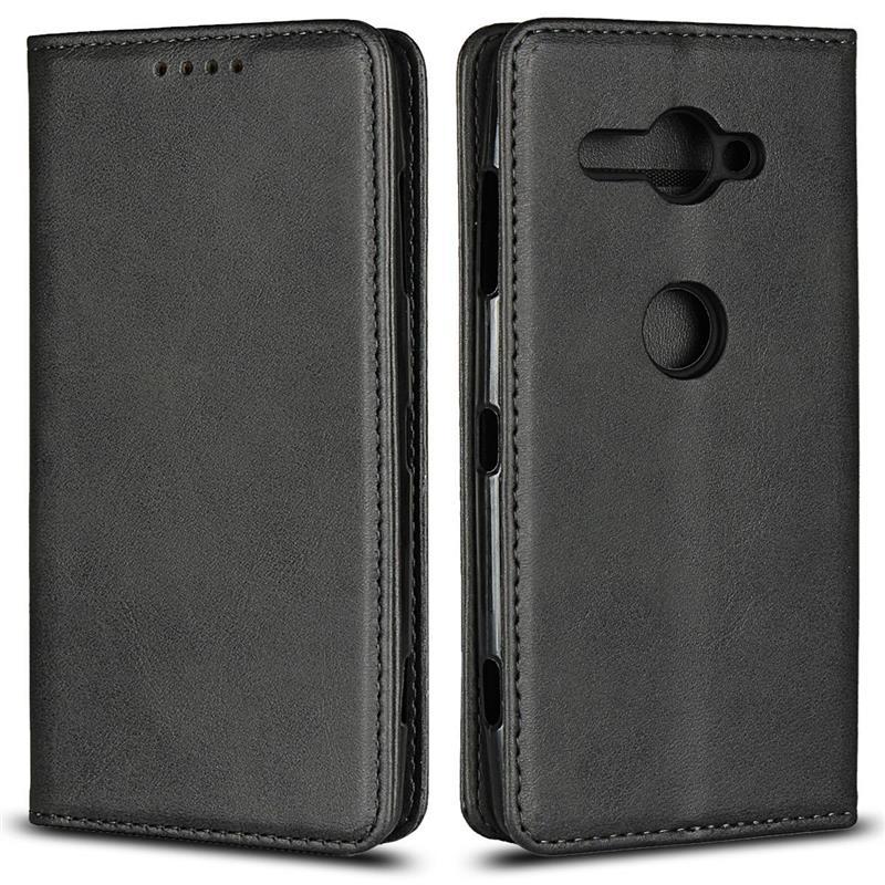 亚马逊爆款 索尼XZ2 Compact手机壳 小牛纹钱包保护套插卡皮套