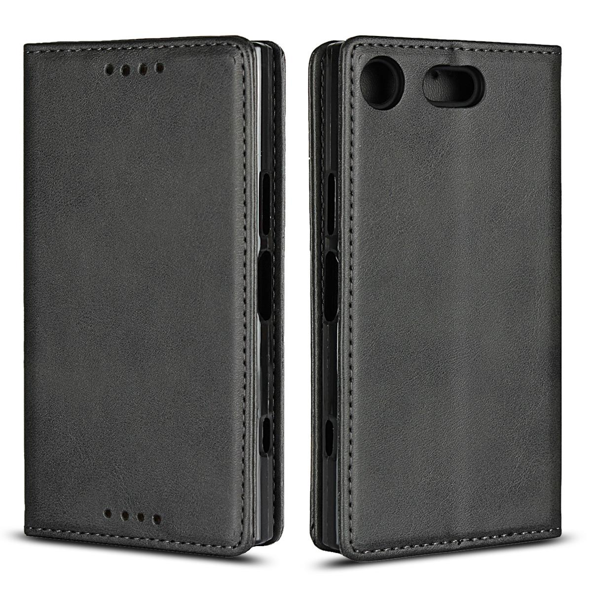 亚马逊爆款 索尼XZ1 Compact手机壳 新款小牛纹保护套插卡皮套