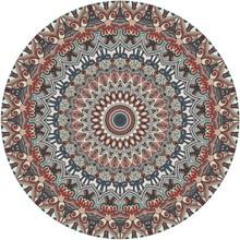 美式 轻奢复古圆形地毯北欧床边地毯客厅卧室书房家用吊篮瑜伽地垫