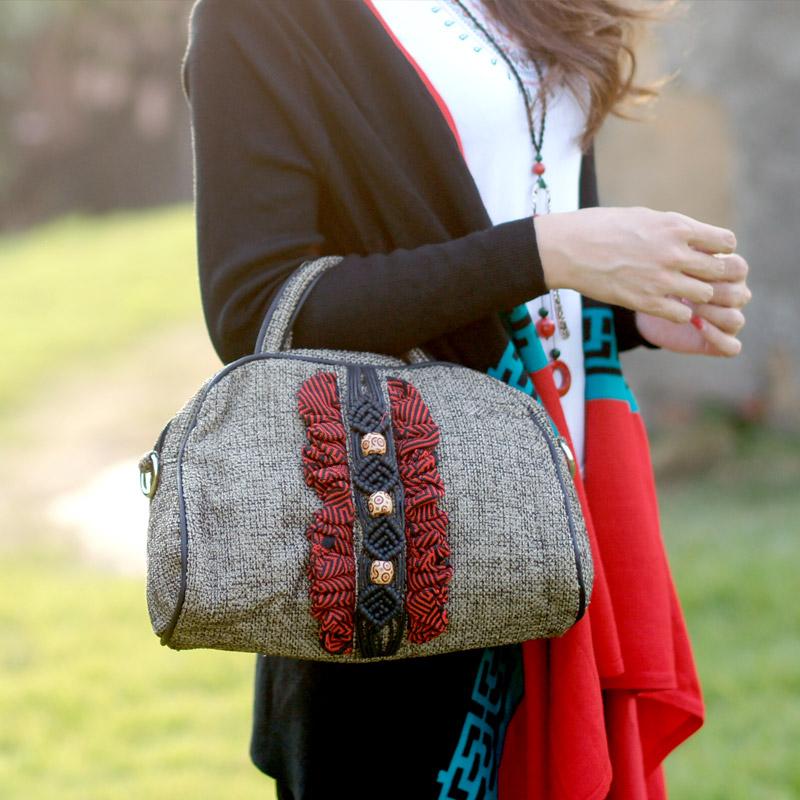 棉麻编织女包哪个品牌好