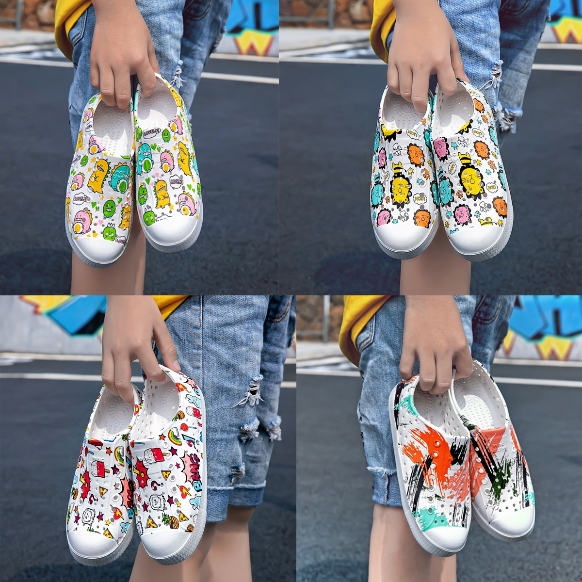 2021 new native childrens shoes Jefferson childrens hole shoes non slip boys and girls SANDALS BEACH SHOES
