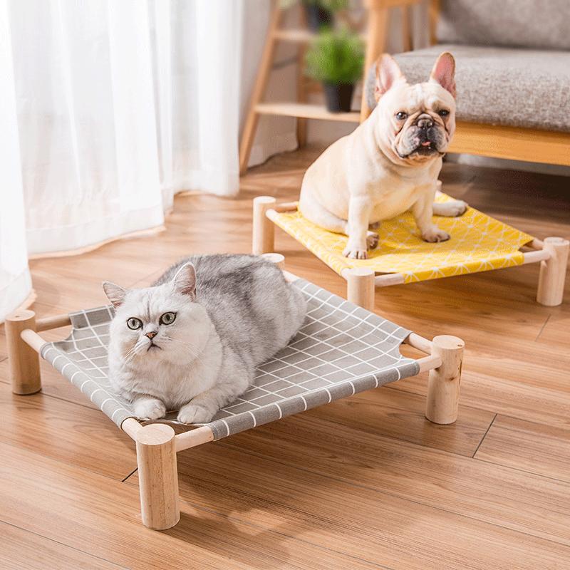 网红夏天猫窝狗床可拆洗四季通用小型宠物猫床狗窝泰迪狗狗行军床