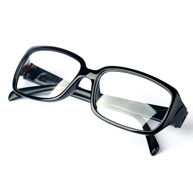 Natural crystal glasses, stone glasses, mens and womens black frame glasses, large frame computer goggles, eye care and radiation