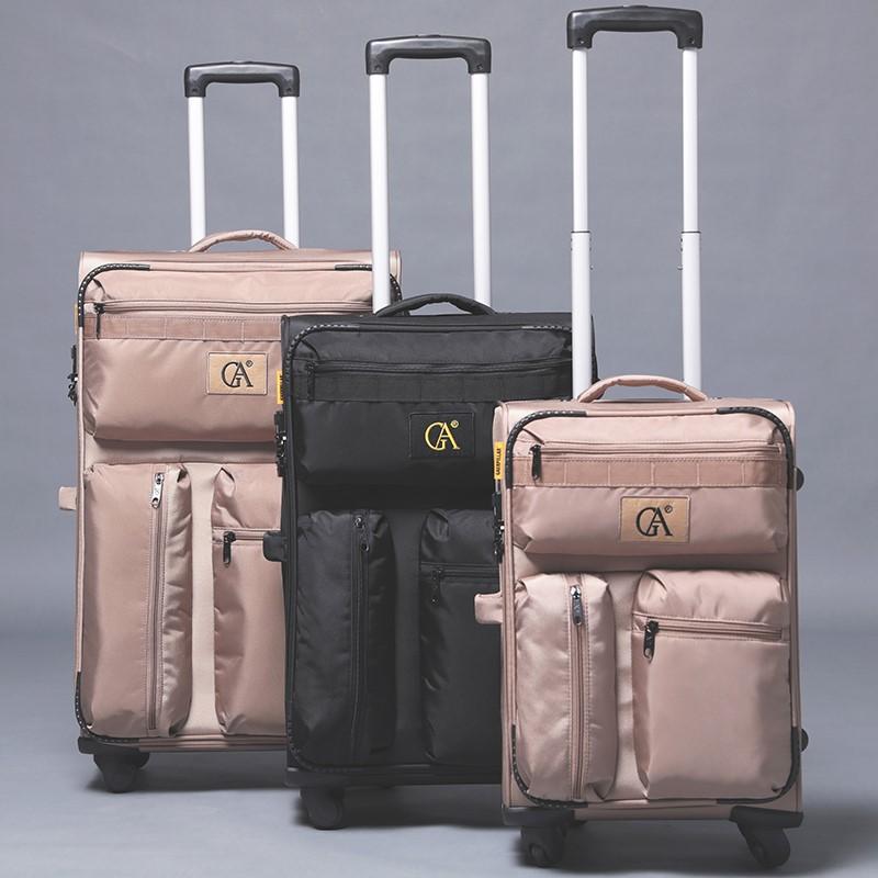牛津布旅行箱20寸帆布行李箱超轻便万向轮24寸拉杆箱28寸托运箱子