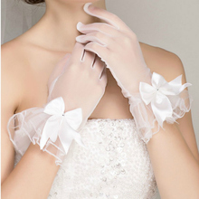 Bride wedding Chinese style toast, retro cheongsam dress, lace gloves, exposed wedding dress accessories Ladies Gloves