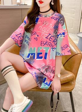 2021年春夏季新款薄款宽松气质小香风仙女连衣裙子格子少女装t恤