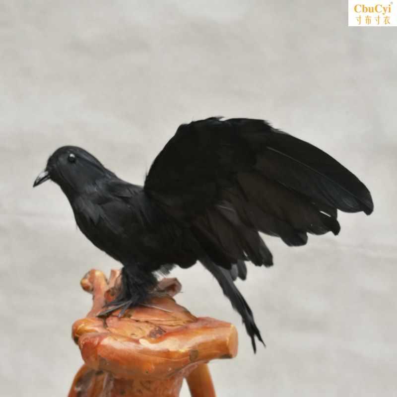 万圣节道具羽毛乌鸦鬼节用品派对话剧电视电影拍摄道具假鸟