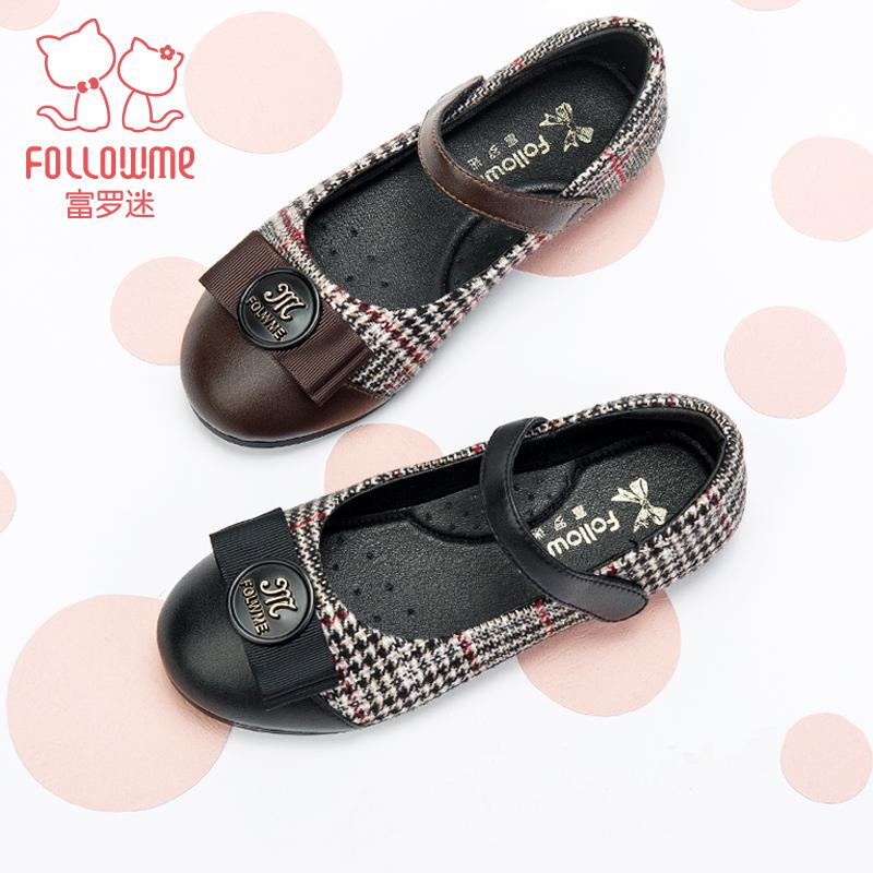 富罗迷中大女童鞋18春夏季新品浅口气质女孩子公主单鞋时尚小皮鞋