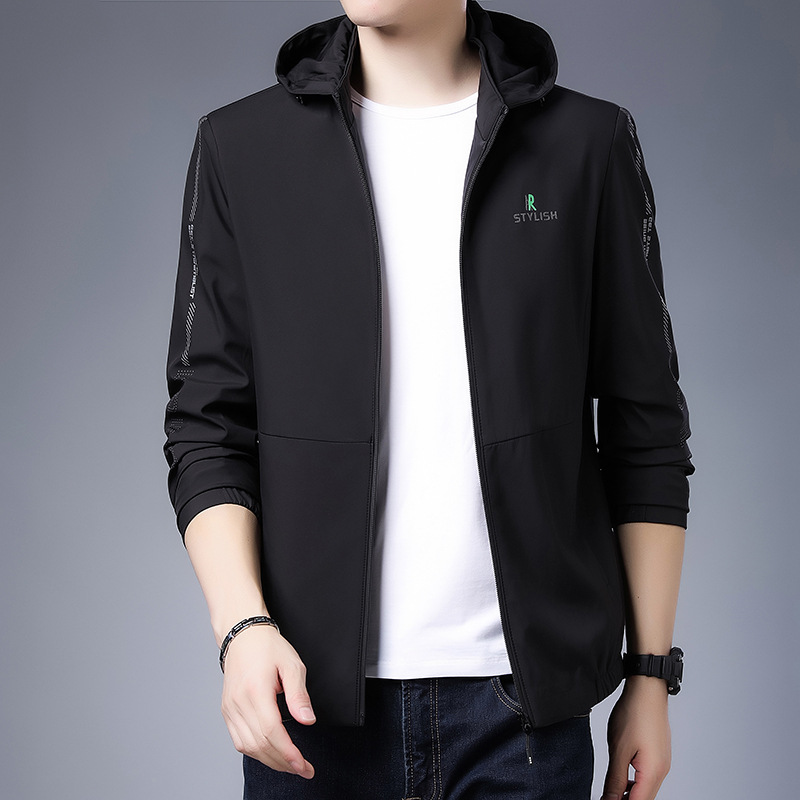 2021 spring mens jacket casual hooded detachable youth trend Korean sports coat fashion mens wear