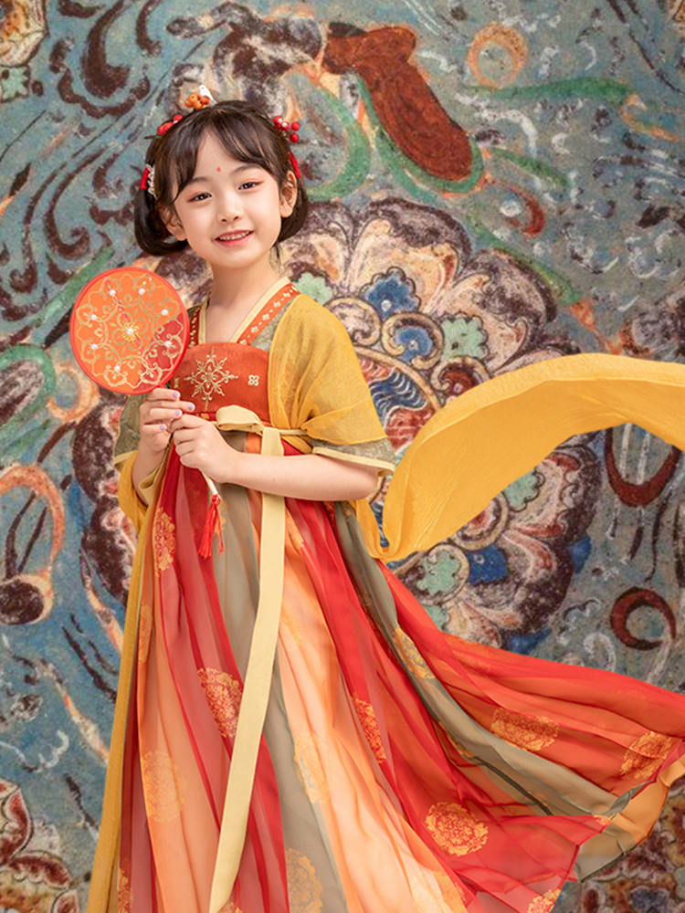 Meatball little sister 2021 new girl's high-end Hanfu