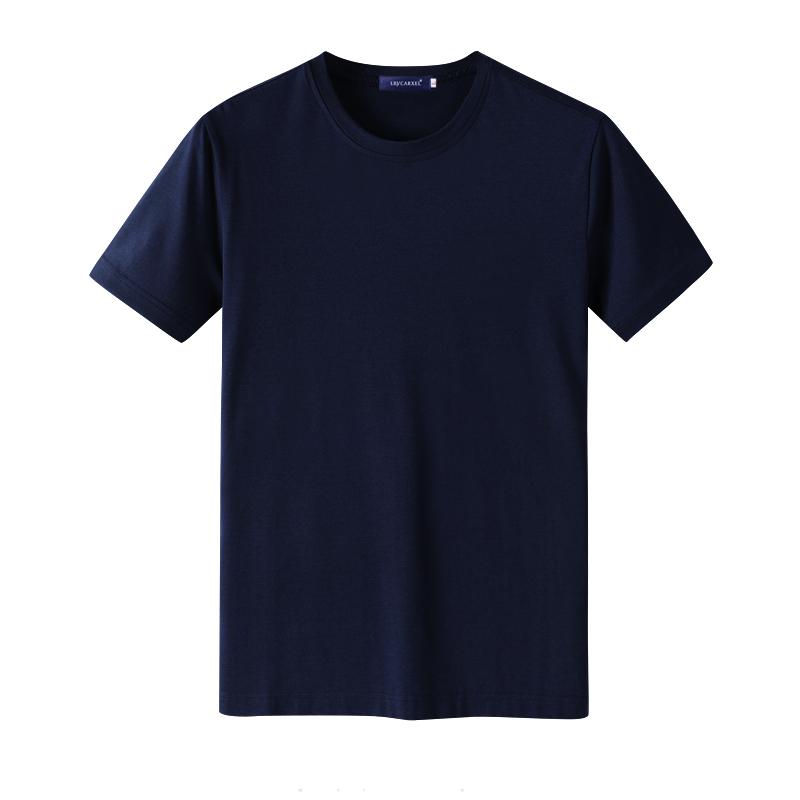 夏季純棉短袖T恤男裝透氣圓領大碼寬松半袖韓版潮流男士純色體恤