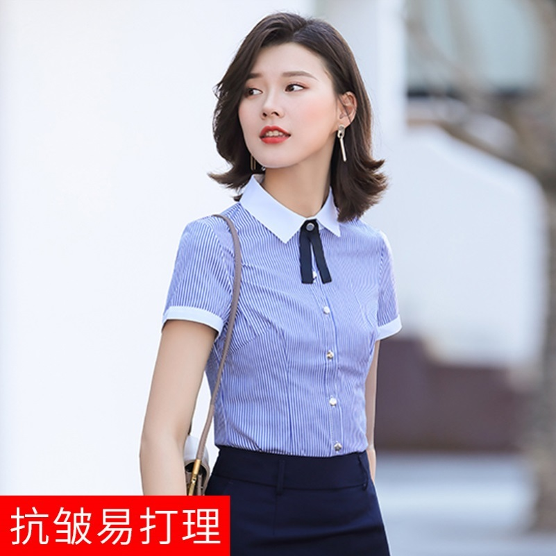 Wrinkle resistant and lazy new style tea house foreign style Secretary commuting shirt woman wearing all kinds of sweet waiters work clothes