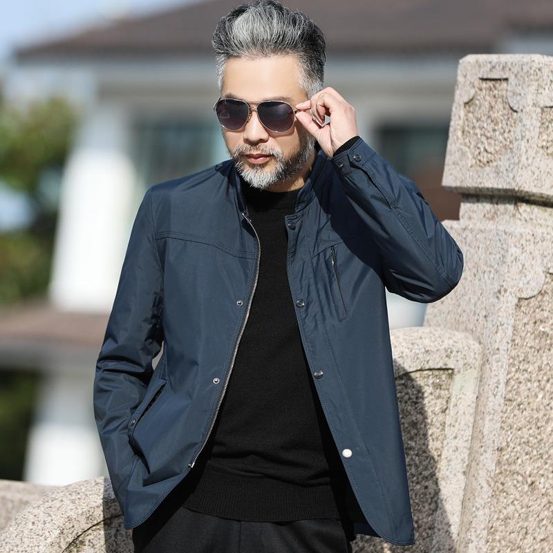 中年夹克男士外衣中老年休闲男装30/40-50岁爸爸秋装外套春秋薄款