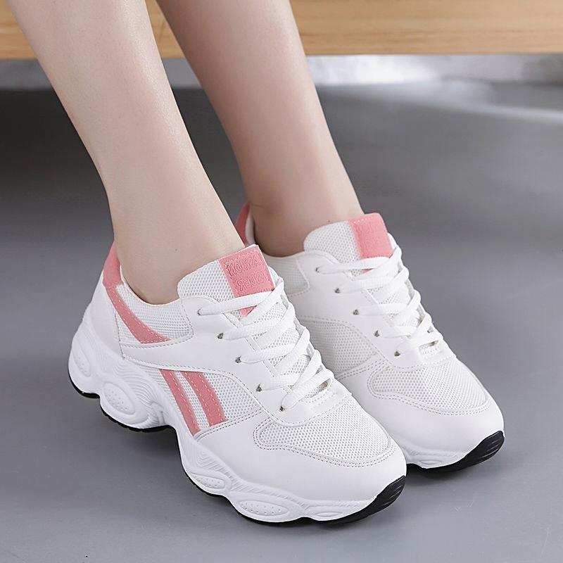 运动鞋女春季2019新款韩版百搭休闲鞋小白鞋学生跑步鞋网面女鞋潮