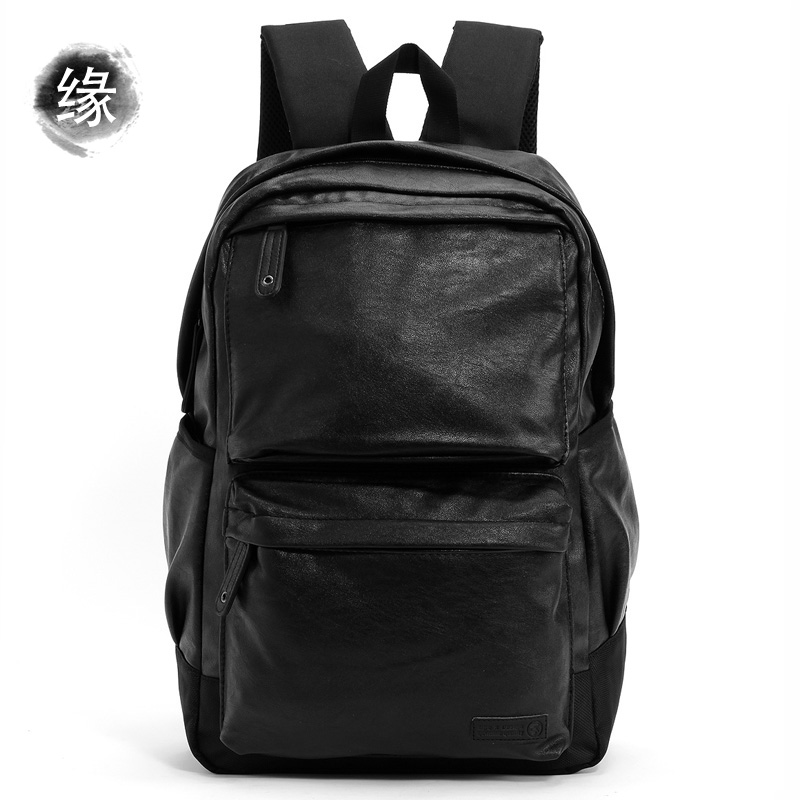 Todays fashion brand soft leather high quality Japanese retro versatile mens leather backpack computer backpack schoolbag
