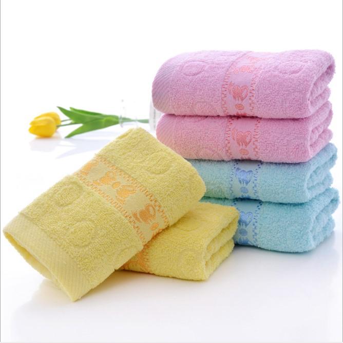 沐浴巾毛巾布加厚型黄色成人洗面洗澡纯色毛巾10条装宿舍实用脸部