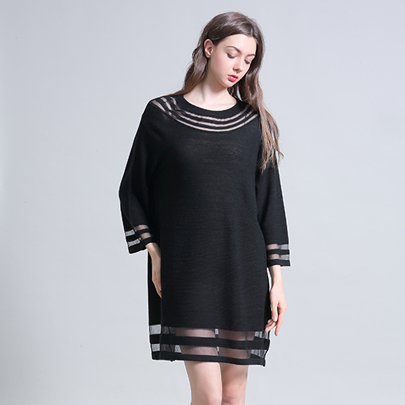 Combo 2019 new Organza simple leisure trend medium length T-shirt can be used with solid color warm sweater