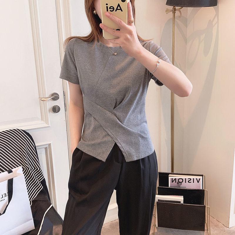 短袖2021夏季新款女装韩版修身t恤