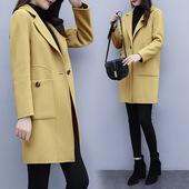 新款韩版加厚毛呢大衣女中长款流行显瘦呢子