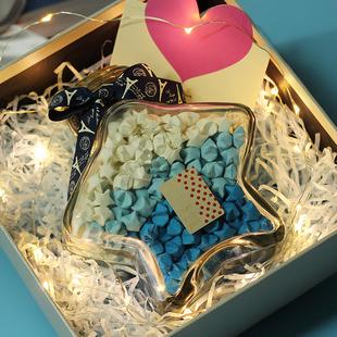 五星许愿瓶星星木塞生日礼物折纸diy送男女生幸运星圣诞新年礼物