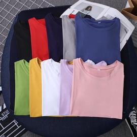 夏装短袖t恤女长袖打底衫2020年新款春秋装韩版高领内搭上衣体恤
