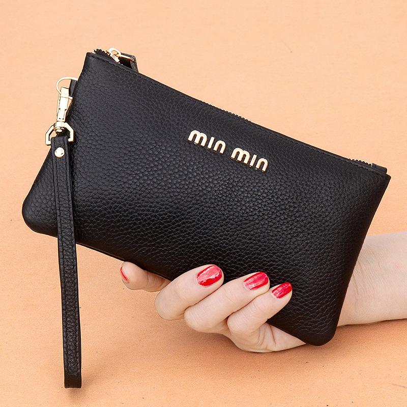 真皮手拿包女钱包长款2020新款简约时尚手包零钱包皮夹小包手抓包