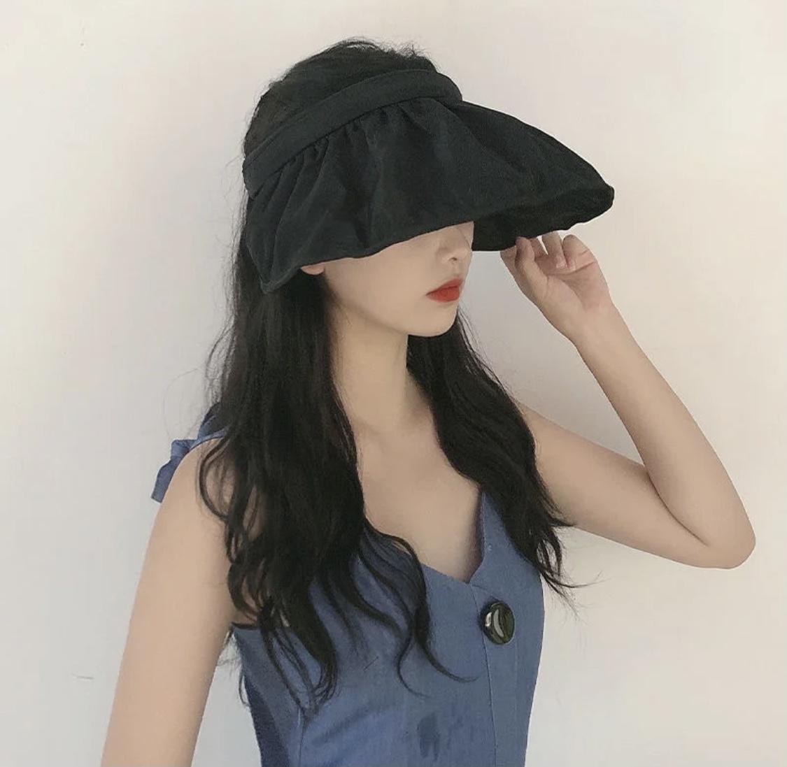 遮脸紫外线可折叠贝壳帽ch旅游帽